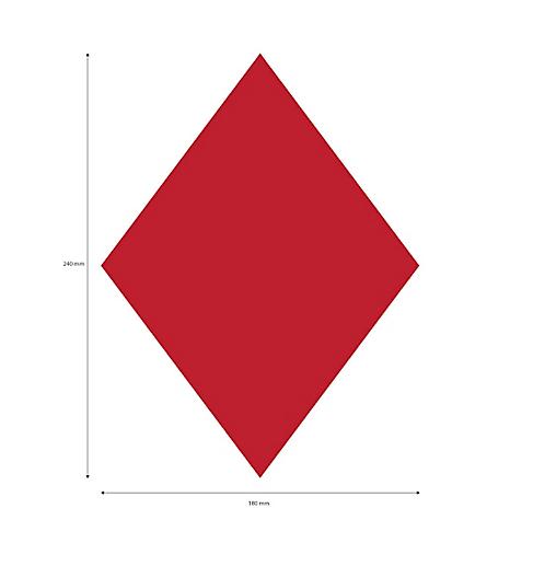 Laser Red Diamond Sail Sticker