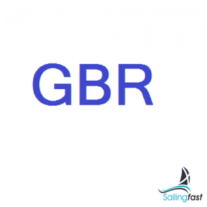 GBR Letters 230mm - Blue