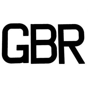 GBR letters black plain
