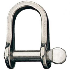 Ronstan D shackle 4.0mm coined