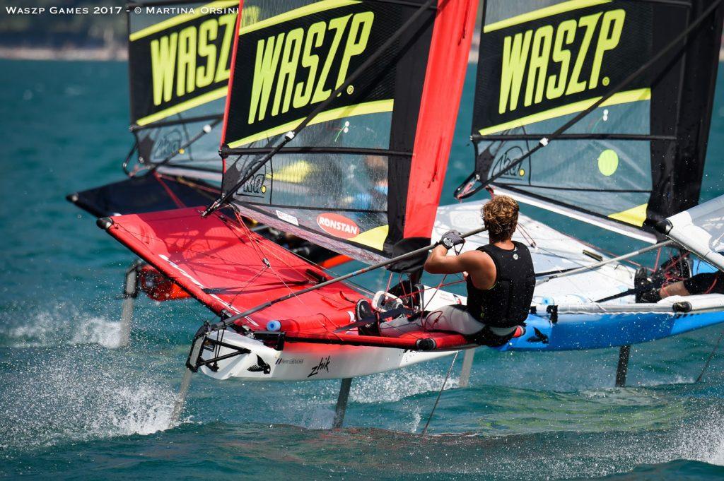WASZPs sailing fast