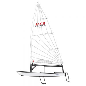 ILCA 7 with alloy top mast